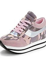 Zapatos de mujer Cuero Plataforma Comfort Sneakers a la Moda Casual/Deporte Azul/Rosa