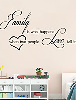 Wall Stickers Wall Decals, Family is What English Words & Quotes PVC Wall Stickers