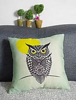 Creative Owl Pillowcase Sofa Home Decor Cushion Cover (17*17 inch)