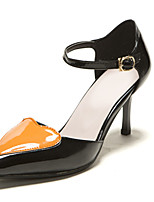 Women's Shoes Patent Leather Stiletto Heel Pointed Toe Pumps/Heels Office & Career/Dress Pink/Orange