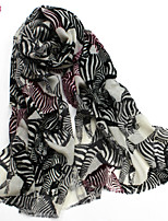 Women's Fashion 100% Wool  Animal Printed Scarf