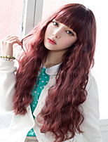 Japanese and Korean Fashion Explosion Models with Long Curly Wig