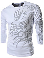 What lees Men's Casual/Sport Print Long Sleeve Regular T-Shirt
