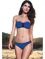 Women's Bandeau Zip Neoprene Bikini