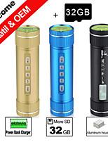 besteye® 32gb TF carte et un chargeur / Bike sport haut-parleur aux haut-parleurs en aluminium portable x5 bancaires d'alimentation de 4400mAh
