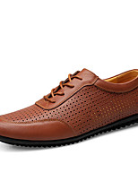 Men's Shoes Outdoor Leather Fashion Sneakers Black/Brown