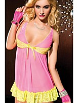 Women's Sexy Lingerie Lace Mini Dress Underwear Babydoll Sleepwear G-string
