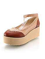 Women's Shoes Synthetic Wedge Heel Heels/Basic Pump Pumps/Heels Office & Career/Dress/Casual Brown/Khaki
