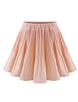 Women's Solid Pink/Black/Purple Skirts , Casual Mini Pleated