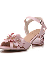 Women's Shoes Chunky Heel Heels Sandals Outdoor/Office & Career/Dress Blue/Pink/White