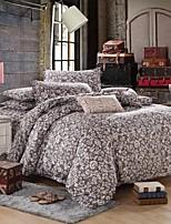 Mingjie flores e folhas cinza lixar conjuntos de cama 4pcs define capa de edredon de cama tamanho queen size china e em tamanho grande