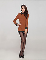 Women's Brown Blouse Long Sleeve