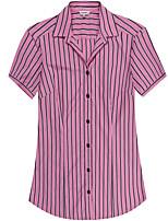 Women's Short Sleeve Cotton Blouse