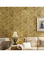 retro tapet floral 0.53m * 10m vægbeklædning ikke-vævede papir væg kunst