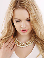 NEW Style Women's Eye-Catching Hand Knitting Pearl Necklace Wedding/Party  1PCS