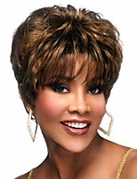 Exquisite Women's Hairstyle Synthetic Hair wig Curly Brown Elegant Short Hair Wigs