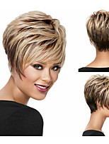 Pixie Cut Bob Synthetic wigs Short Straight hair wig for women Full wigs with bangs