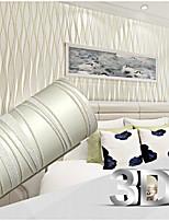 contemporaine papier peint stripe 0.53m * 10m mur 3d couvrant l'art non-tissé mur de papier
