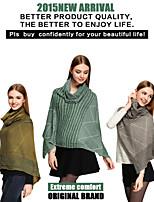 Sjaals 2015CSZM Scarves women Cape Poncho Winter Casual Sweater Poncho Echarpe Sweater Cardigan Shawl cachecois feminino