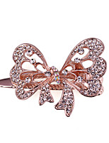Woman's  Fashion Graceful bowknot Crystal Hairpin FMYJ018