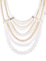 Luxurious And Elegant Fashion Women 18K Gold Pearl Exaggerated Big Jewelry Necklace