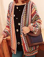 Women's Blue Coat , Casual Long Sleeve Knitwear
