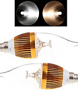 2 Stück Ding Yao Kerzenlampen E14 9 W 150-250 LM 2800-3500/6000-6500 K 3LED COB Warmes Weiß/Kühles Weiß AC 85-265 V