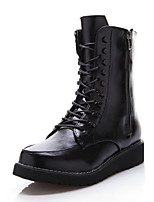 Women's Shoes Low Heel Motorcycle Boots/Bootie/Round Toe Boots Outdoor/Office & Career/Casual Black/Brown