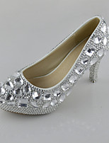 Women's Shoes Leatherette Stiletto Heel Heels Silver Crystals Pumps/Heels Wedding/Party & Evening/Dress Silver