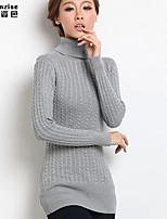 Damen Pullover  -  Leger Strickware/Elasthan/Acryl Medium Langarm