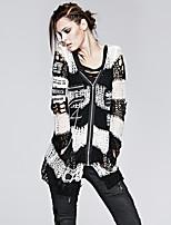 панк рейв м-004 женская винтажная / сексуальный неэластичен среднего длинным рукавом пуловер