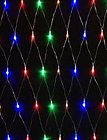 5W 1.5x1.5 Meter 96pcs LED Net Light with AC110-220V Input PVC Transparent, Red/Green/Blue/Yellow Color