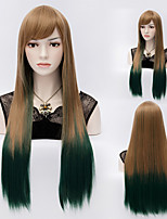 Straight Mix Color Long Straight Hair Wigs Synthetic Hair Wigs Fashion Style
