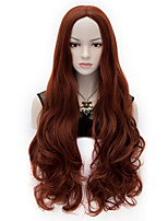Fabulous Superb Long Curl Wave Wig Mix Red and Brown Ruby