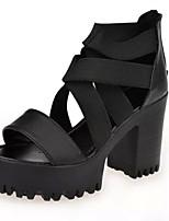 Women's Shoes Chunky Heel Heels Sandals Office & Career/Dress Black/White