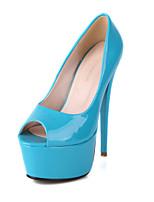 Women's Shoes Synthetic Stiletto Heel Peep Toe Sandals Outdoor/Casual Black/Blue/Beige/Navy