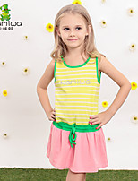 KAMIWA ® Girl's Summer Striped Lycra Cotton Sleeveless Dresses Beach Thin Tanks & Camis Children's Clothing Kids Clothes