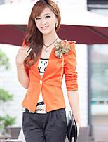 Women's Hitz Pure Color Long Sleeve T-Shirt Slim Slim One Button Suit Jacket