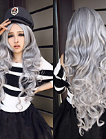 European and American Fashion Explosion Models Long Silver Hair Wig