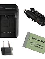 13l batería de la cámara 1250mAh enchufe + cargador de coche + eu para Canon PowerShot G7 x
