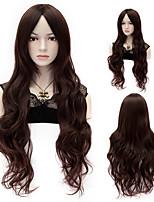 European Style Fashion Hair Dark Brown High Quality Synthetic Wigs