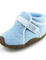 Baby Shoes Outdoor/Casual Canvas Toddlers Ankle Boots Blue/Pink for Boys Girls