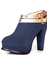 Women's Shoes Chunky Heel Fashion Boots Boots Office & Career/Dress/Casual Black/Blue/Red