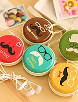 Mr.Beard Stylish Round Shaped Coin Purse (Random Delivery)