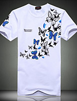 Men's  Fashion Butterfly Print Short Sleeved T-Shirt