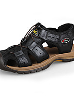 Men's Shoes Leather Black/Brown/Yellow