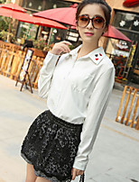 Women's Black Skirts , Casual Above Knee Layered