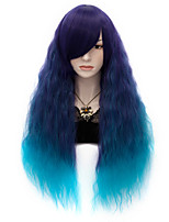 70cm Japanese Fashion Harajuku Ombre Color Curly Anime Cosplay Wig Cool Lolita Party Wig