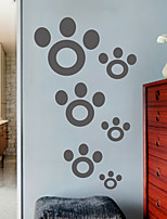 Wall Stickers Wall Decals, Modern Simple paws PVC Wall Stickers