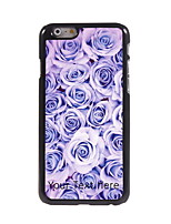 Personalized Gift Rose Design Aluminum Hard Case for iPhone 6 Plus